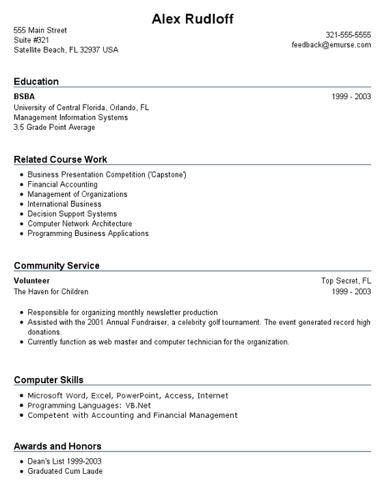resume writing career services